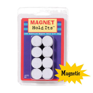 "Magnetic Dots - Set of 100 3/4"" Dots"