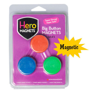 Big Button Magnets-Set of 3