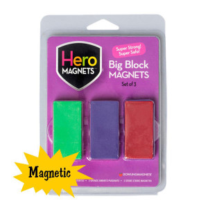Big Block Magnets-Set of 3
