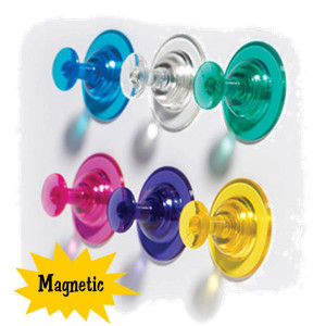 Big Push Pin Magnets-Set of 6