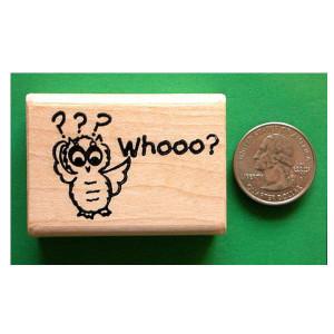 Whooo? Owl Stamp