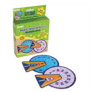 Math Spin- Multiplication Flash Cards