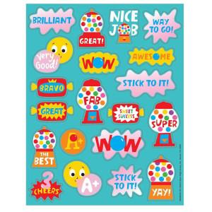 Bubble Gum Scented Stickers