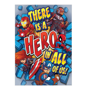 Marvel There is a Hero In All Of Us Poster