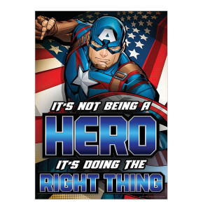 Marvel It's Not Being A Hero Super Hero Poster