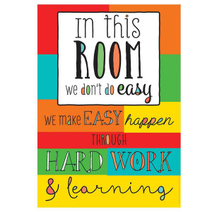 In This Room We Don't Do Easy Poster