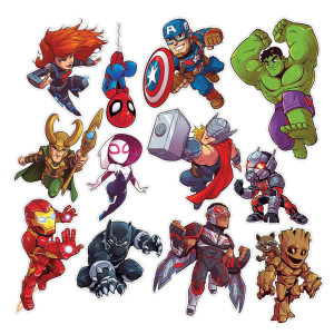 Marvel Super Hero 2-Sided Decorations