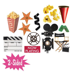 Movie Theme 2-Sided Decorations