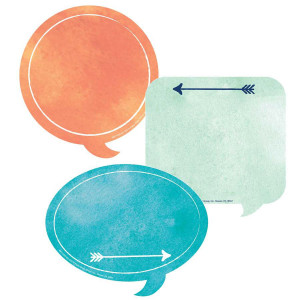 Confetti Splash Word Bubble Cut-Outs