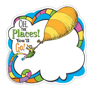 Dr Seuss Oh the Places You'll Go! Balloon Cut-Outs