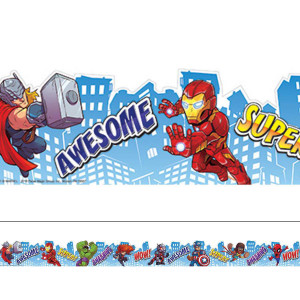 Marvel Super Hero Adventure City Scape Border