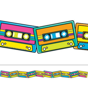 Rock the Classroom 80's Cassette Tapes Border