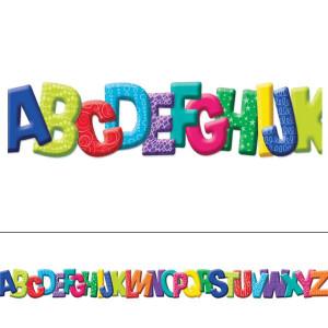 Color My World ABC Diecut Border