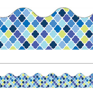 Blue Harmony Diamond Border