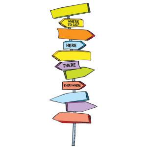 Dr Seuss Directional Signs Mini Bulletin Board Set