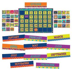 Plaid Attitude Calendar Bulletin Board