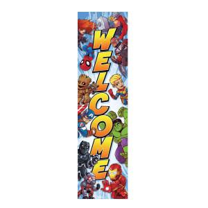 Marvel Super Hero Welcome Banner