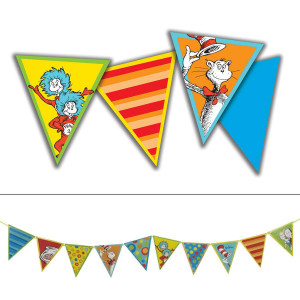 Dr Seuss Cat in the Hat Pennants