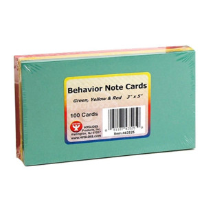 "3"" x 5"" Behavior Index Cards"