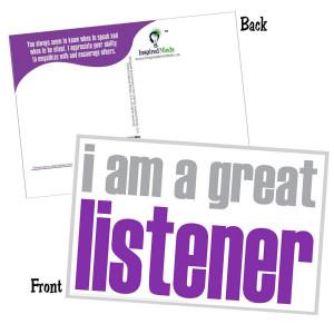 I Am A Great Listener Postcard