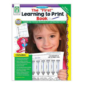 """First"" Learning to Print Book"