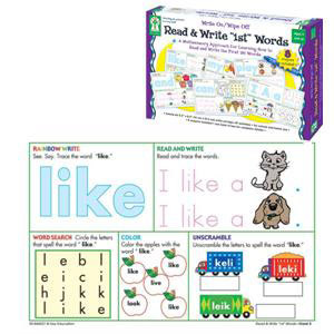 Read & Write First Words Write-On/Wipe-Off Cards