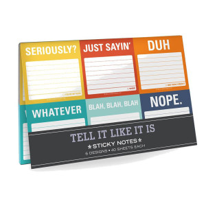 Tell It Like It Is Sticky Notes