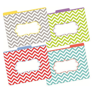 Beautiful Chevron File Folders