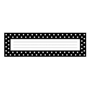 Black And White Dot Nameplates