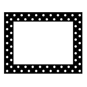 Black & White Dot Nametags