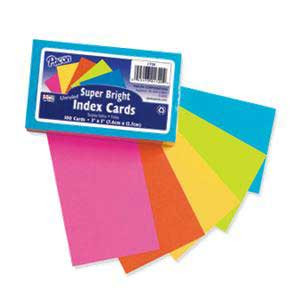 Index Cards- 3X5 Bright Unruled
