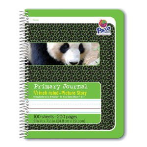 "5/8"" Ruled Picture Story Spiral Composition Book"