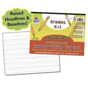"Multi-Sensory Handwriting Tablet-5/8"" Raised Ruled"
