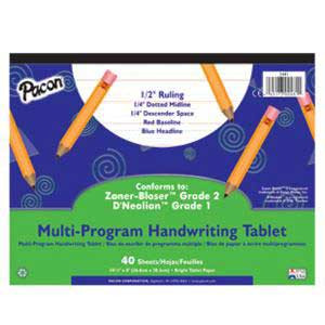 "Handwriting Paper Tablet- 1/2"" Ruling"