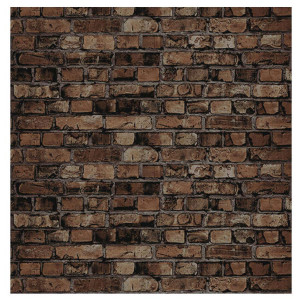Aged Brown Brick Fadeless Bulletin Board Paper