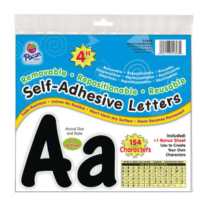 Black Cheery Self-Stick Letters-4""