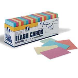 "Flash Cards- 2""x3"" Assorted Colors"
