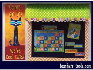 *Pete the Cat Calendar Bulletin Board