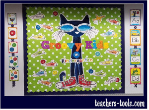 *Pete the Cat Groovy Kids Bulletin Board