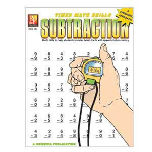 Subtraction Timed Math Drill Book
