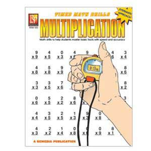 Multiplication Timed Math Drill Book