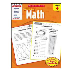 Scholastic Success with Math Book Grade 4