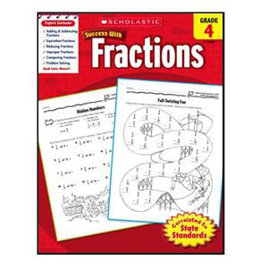 Scholastic Success with Fractions Book Grade 4