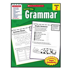 Scholastic Success with Grammar Book Grade 2
