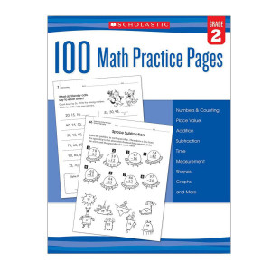 100 Math Practice Pages-Grade 2
