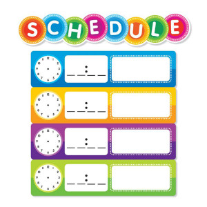 Color Your Classroom Schedule Mini Bulletin Board