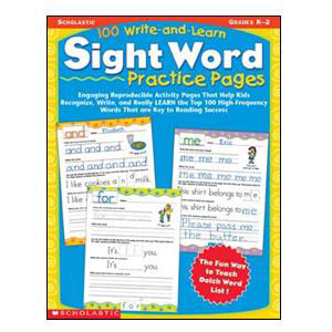 100 Write And Learn Sight Words Book