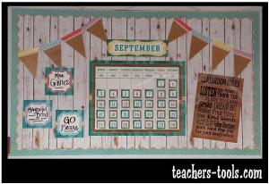 *Shabby Chalkboard Calendar Bulletin Board