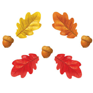 Fall Oak Leaves & Acorns Cut-Outs