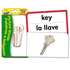 Picture Words Bilingual Flash Cards